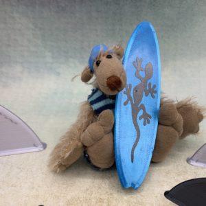 Bärino Bär Surfer Ryan 9 cm Künstlerbär