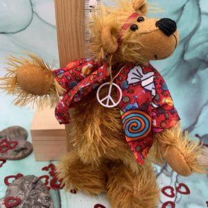 Bärino Bär Hippie Floyd 14 cm Künstlerbär
